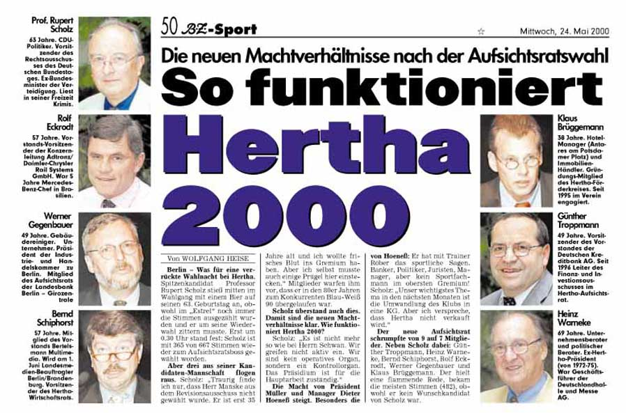 BZ-Sport: So funktioniert Hertha 2000